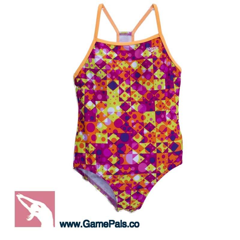ece5116b6784 Bañador Speedo Niña color naranja - Tienda Online deportiva natación