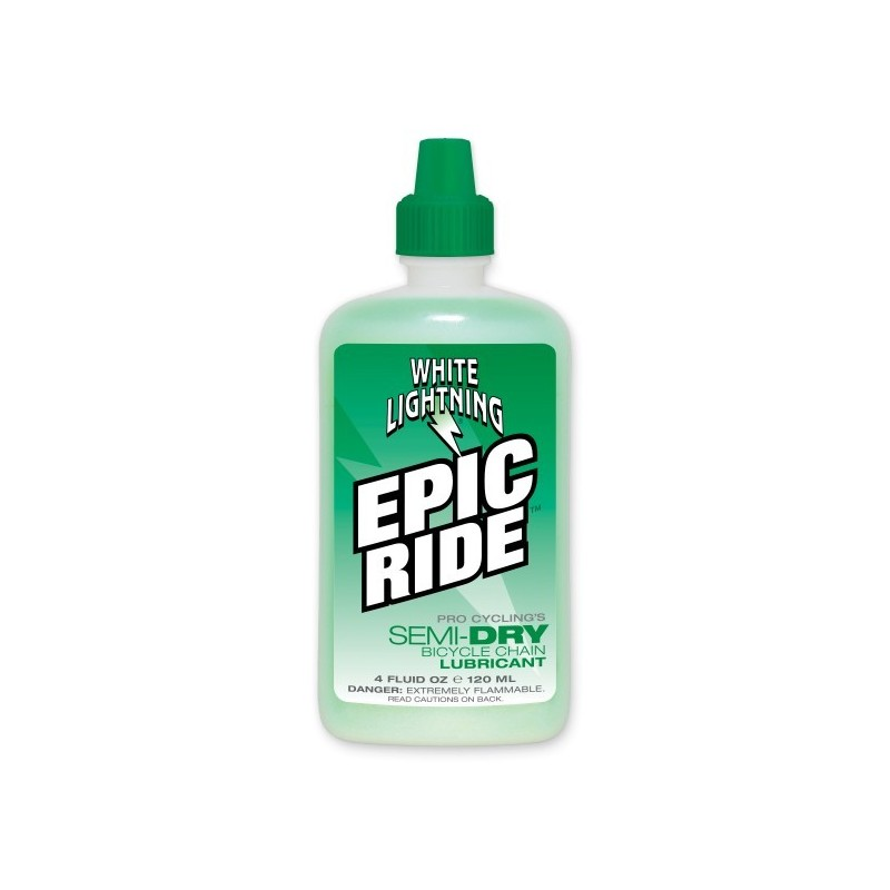 Lubricante White lightining Epic Ride para cadena de bicicleta 120 ml.