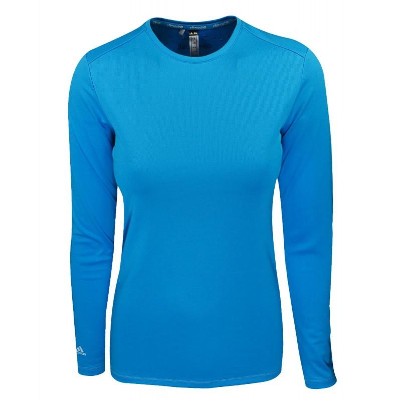Camiseta Adidas Manga Larga Climachill azul