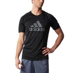 Camiseta Adidas Logo Grande Negra