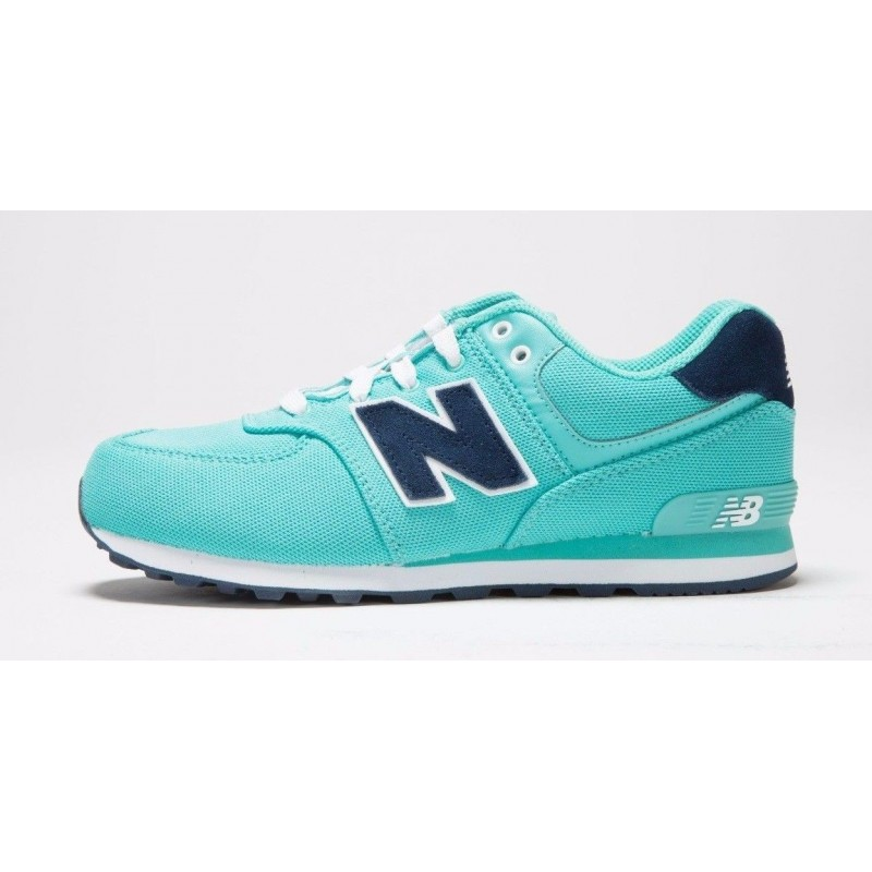 New Balance 574 Pique Polo Aquarius