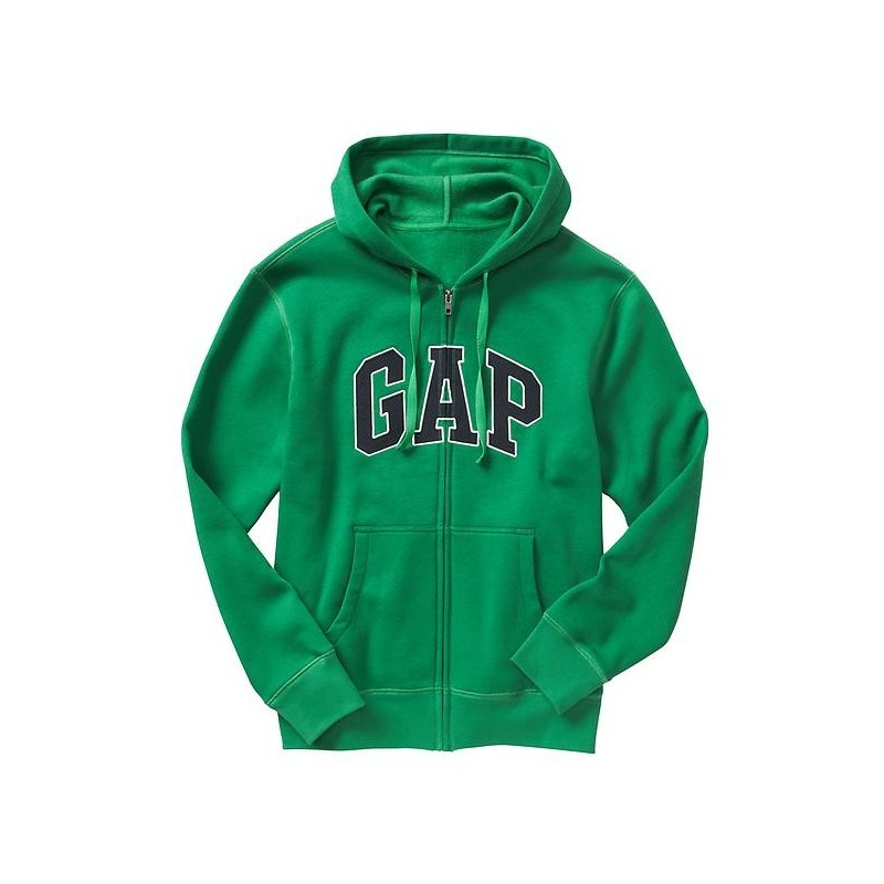 Hoodie GAP Zip Hombre Verde