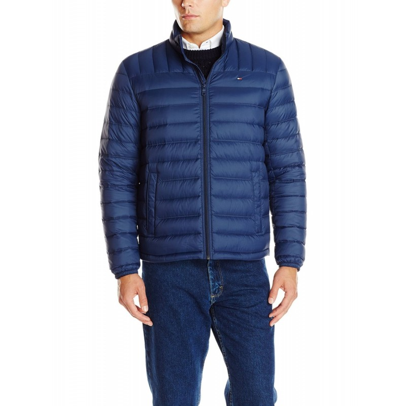 Tommy Hilfiger Hombre Packable Down Azul