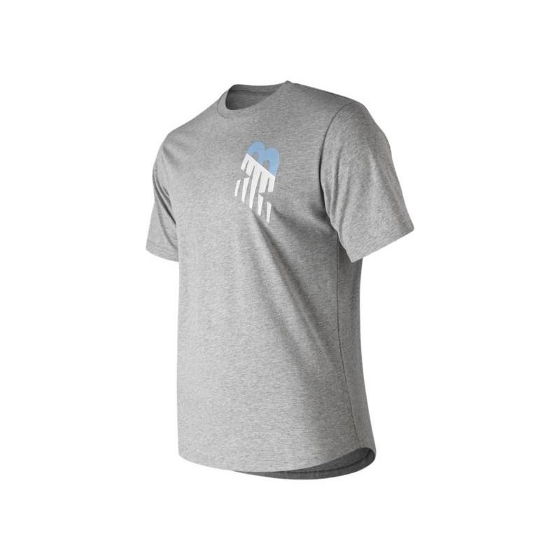 Camiseta New Balance Gris Talla S logo NB