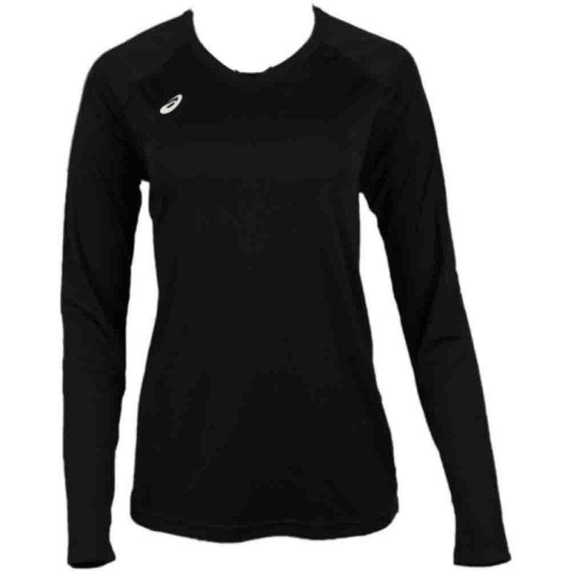 Camiseta ASICS Circuit 8 Manga Larga Negro Running tienda outlet Colombia