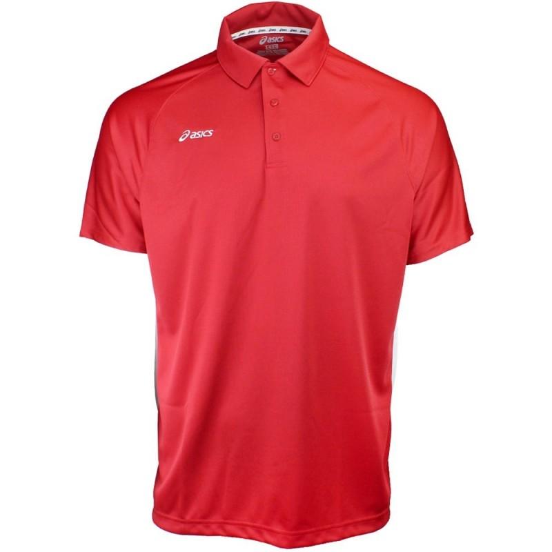 Polo ASICS Corp Roja Hombre