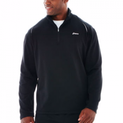 Essential Check Quarter–Zip Fleece Pullover