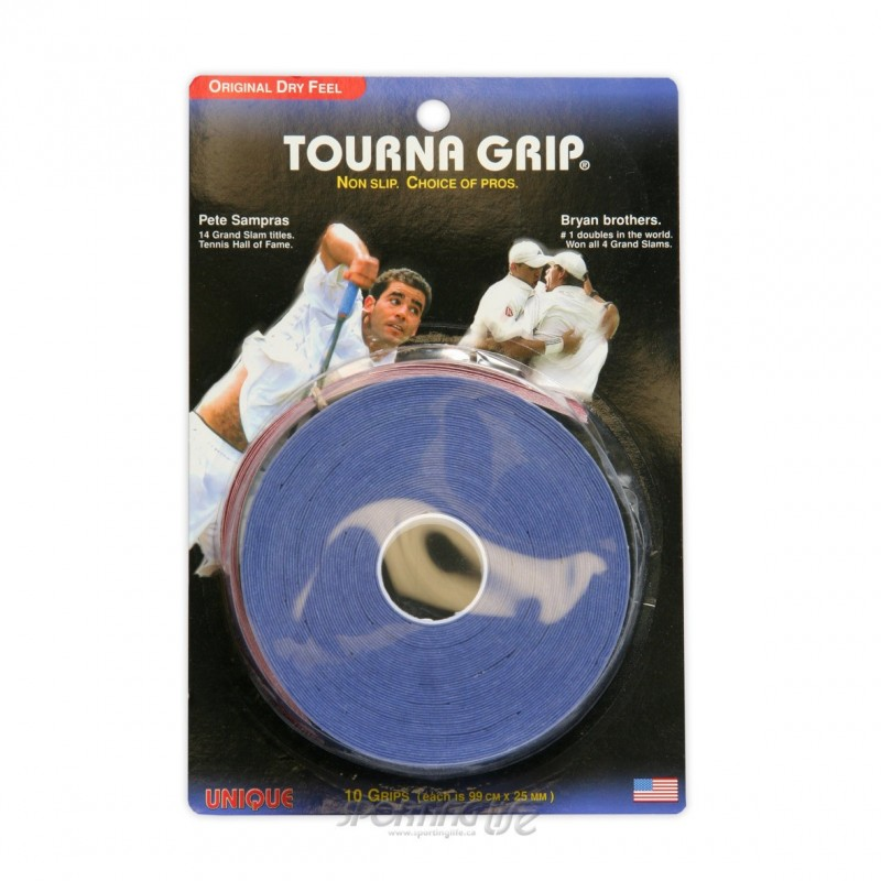 Tourna-Grip paquete de 10-Pack Azul