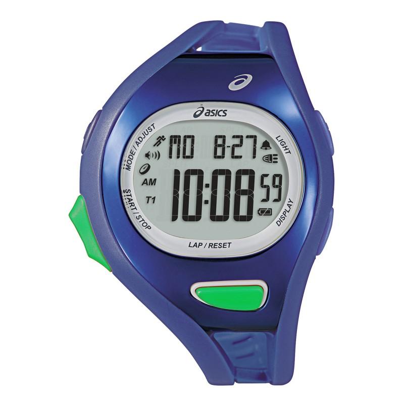 Reloj Deportivo ASICS® Mens Entry Running 100-Lap Azul Cronómetro
