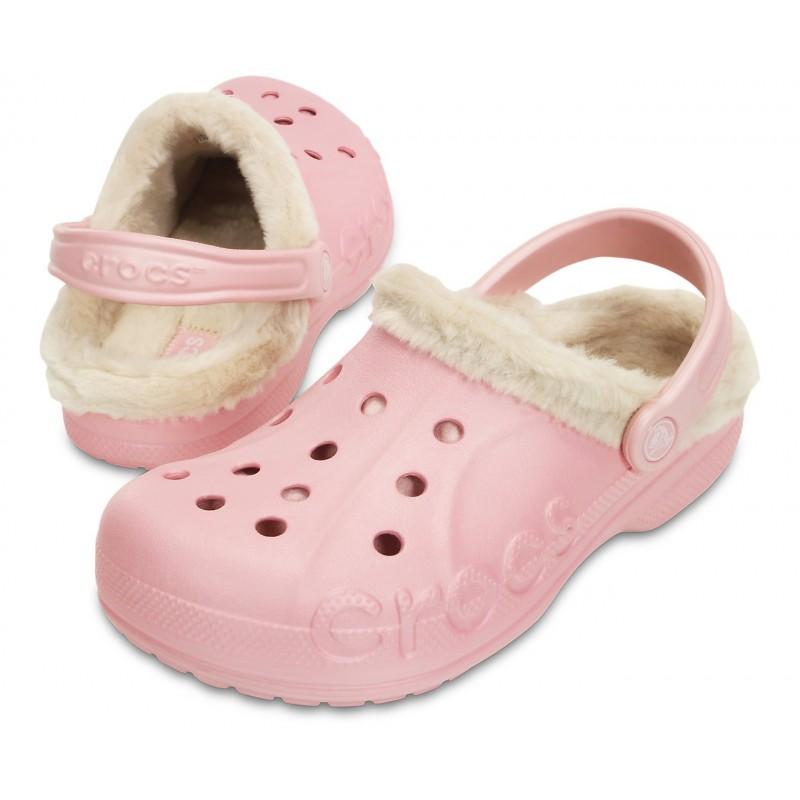 Crocs Baya Heathered Fuzz Lined Clog Mujer
