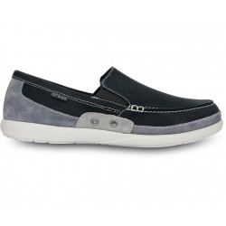 Crocs Walu Accent Gamusa Loafer Color Negro/Gris