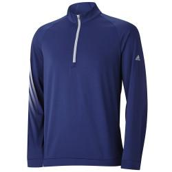 Top Adidas Cierre 1/4, 3 Rayas Color Azul Noche