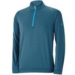 Top Adidas Cierre 1/4,  3 Rayas Color Viridian