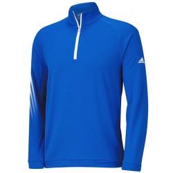 Top Adidas Cierre 1/4, 3 Rayas Color Azul