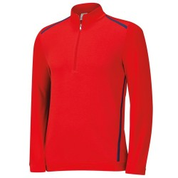 Top Adidas Novelty Cierre 1/2, Top de Entrenamiento Color Rojo