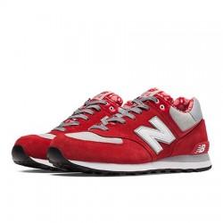 New Balance 574 Hombre Rojo con Gris