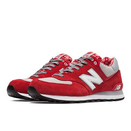 New Balance 574 Hombre Rojo con Gris Tienda online deportiva ...